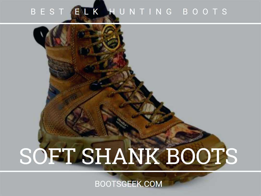 Hunting boots with soft shank