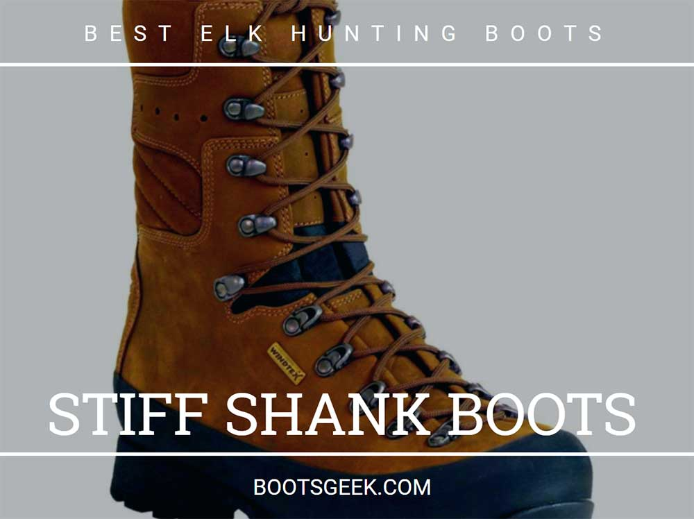 Hunting boots with stiff shank