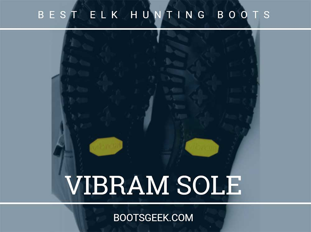 Hunting boots with vibram sole